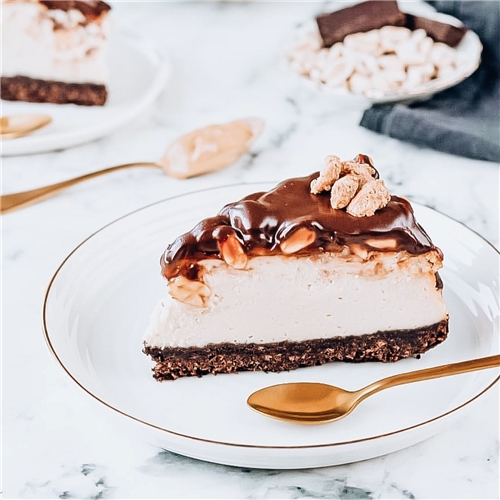 RECEPT: Snickers Cheesecake
